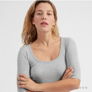 Everlane Pima ribbed scoop neck tee